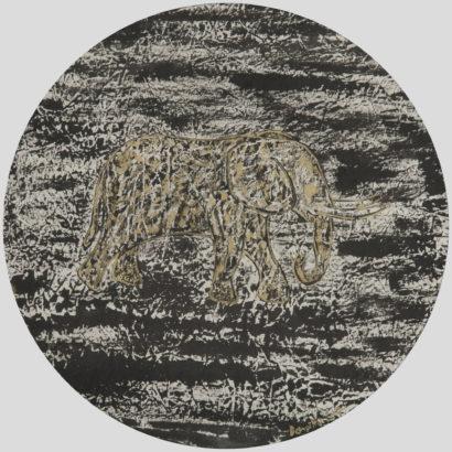Eléphant la nuit. 2017 - Caroline Desnoëttes - FLAIR Galerie