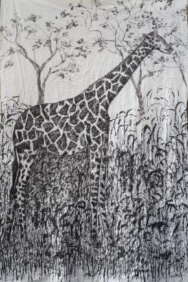 Girafe dans les hautes herbes. 2015 - Caroline Desnoëttes - FLAIR Galerie