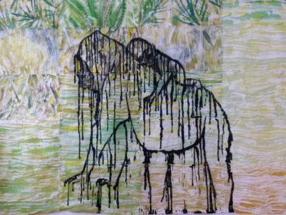 Gorille et son petit. 2015 - Caroline Desnoëttes - FLAIR Galerie
