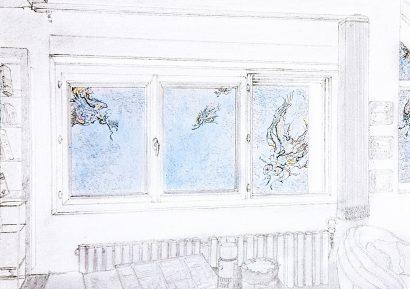 fenêtre à Denisy. 2012 - Pierre Desfons - FLAIR Galerie