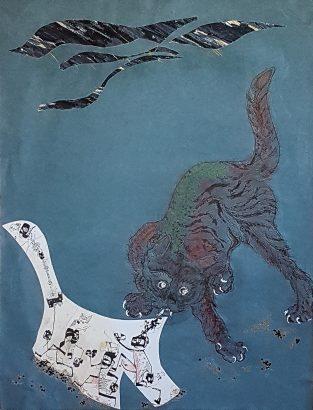 Fuite 3, Halte au chat !. 2006 - Pierre Desfons - FLAIR Galerie
