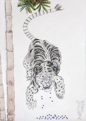 les larmes d'un tigre indien. 2017 - Pierre Desfons - FLAIR Galerie